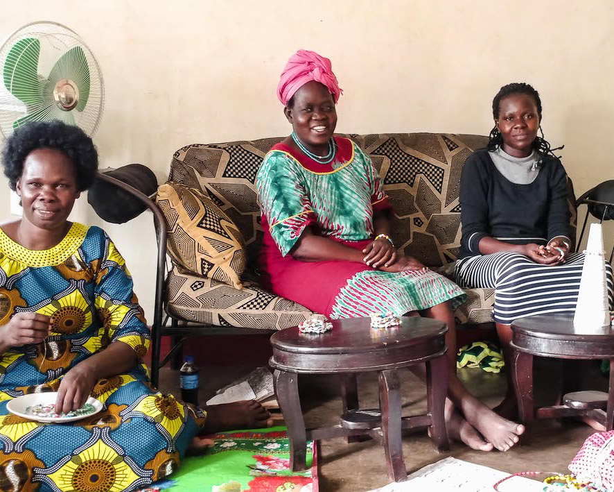 Family supported by fair trade jewelry production