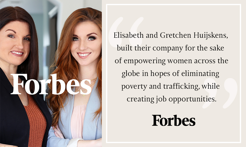 Forbes Features Trades of Hope Founders, Gretchen and Elisabeth Huijskens